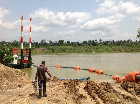 12'' cutter dredger Sand dredging pipeline Nigeria