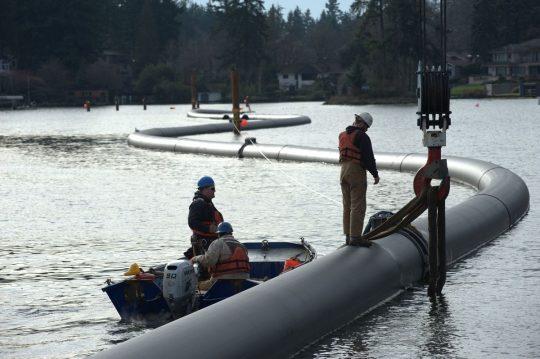 PE100 ISO4427 sdr11 PE pipe sea water intake
